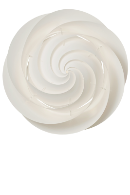 SWIRL Ceiling/Wall Large White