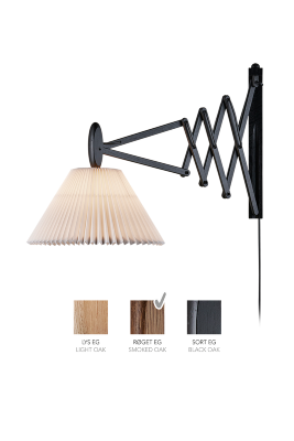 LE KLINT SAX 233 - 2/21 - Smoked oak with paper shade