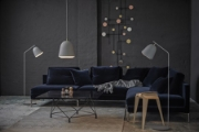 CACHÉ FLOOR LAMP AND PENDANT GREY