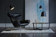 CACHÉ FLOOR LAMP AND PENDANT BLACK